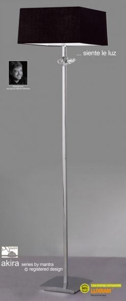 Mantra M0791- Akira 3lt Floor Lamps, Polished Chrome