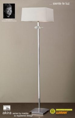 Mantra M0791/CS- Akira 3lt Floor Lamps, Polished Chrome