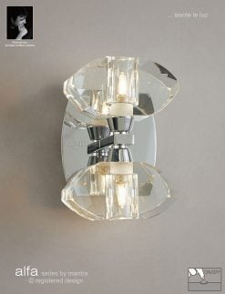 Mantra M0424/S- Alfa 2lt Wall Light, Polished Chrome