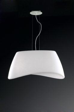Mantra M1504- Cool 2lt Single Pendant, Matt White