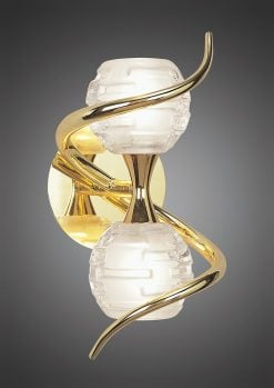 Mantra M0097PB/S- Dali PB 2lt Wall Light, Polished Brass