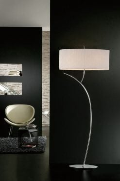 Mantra M1139- Eve 2lt Floor Lamps, Polished Chrome