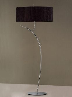 Mantra M1139/BS- Eve 2lt Floor Lamps, Polished Chrome