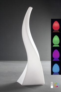 Mantra M1381- Flame 1lt Table Lamps, Opal White