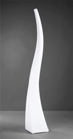 Mantra M1400- Flame 4lt Floor Lamps, Opal White