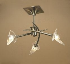Mantra M0306AB- Flavia AB 3lt Semi Flush, Antique Brass