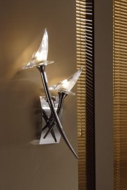 Mantra M0308- Flavia 2lt Wall Light, Polished Chrome