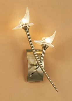 Mantra M0308AB- Flavia AB 2lt Wall Light, Antique Brass