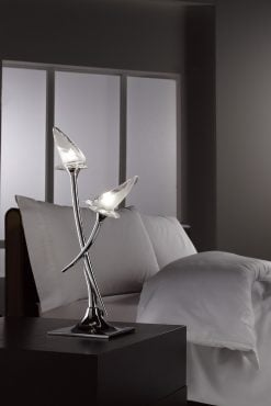 Mantra M0310- Flavia 2lt Table Lamps, Polished Chrome