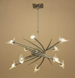 Mantra M0312AB- Flavia AB 10lt Multi Arm Pendant, Antique Brass