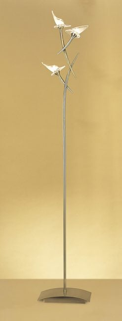 Mantra M0314AB- Flavia AB 3lt Floor Lamps, Antique Brass