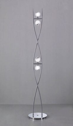 Mantra M0816- Fragma 4lt Floor Lamps, Polished Chrome