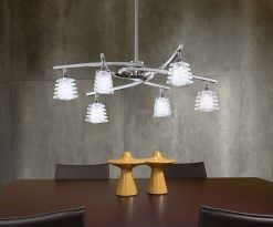 Mantra M0011- Keops 6lt Multi Arm Pendant, Satin Nickel