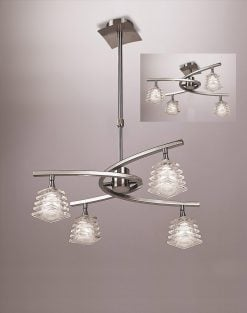 Mantra M0012- Keops 4lt Semi Flush, Satin Nickel