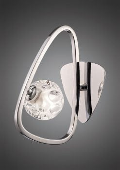Mantra M5017/S- Lux 1lt Wall Light, Polished Chrome