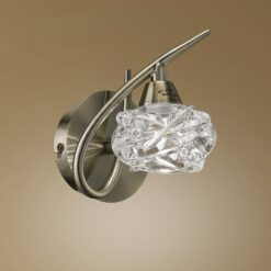 Mantra M4078- Maremagnum AB 1lt Wall Light, Antique Brass