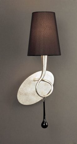 Mantra M0538/S- Paola 1lt Wall Light, Silver Painted
