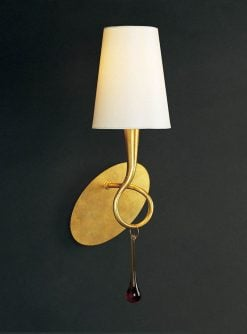 Mantra M0548/S- Paola 1lt Wall Light, Gold Painted