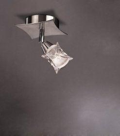 Mantra M0041/S- Rosa 1lt Wall Light, Satin Nickel