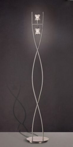 Mantra M0054- Rosa 2lt Floor Lamps, Satin Nickel