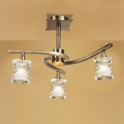 Mantra M0038AB- Rosa AB 3lt Semi Flush, Antique Brass