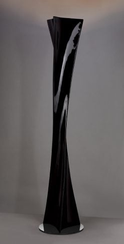 Mantra M0586L- Twist 1lt Floor Lamps, Gloss Black