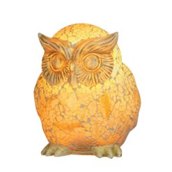 1028 OWL MOSAIC GLASS TABLE LAMP