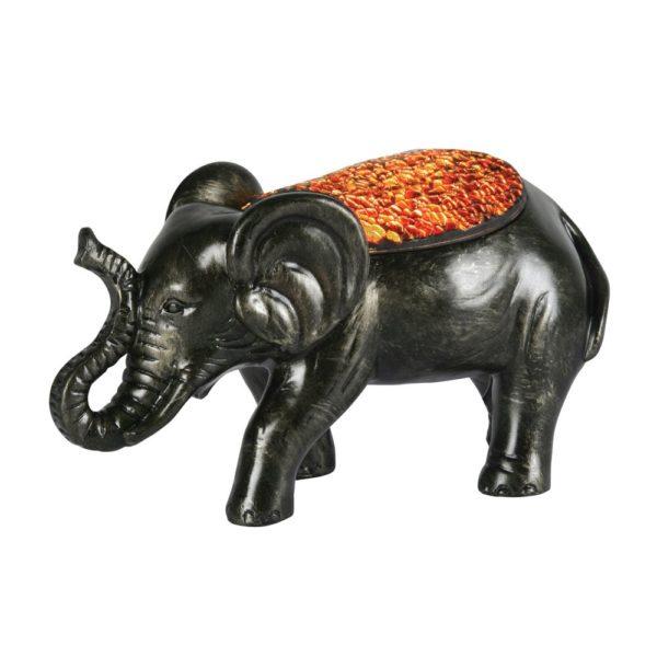 1029 ELEPHANT MOSAIC GLASS TABLE LAMP