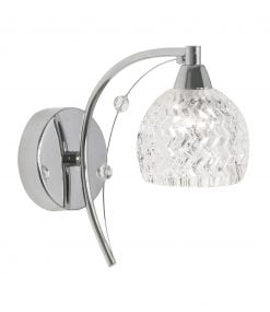 1267/1 CH - PESARO CHROME WALL LIGHT