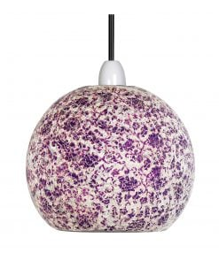 1401 PW - PURPLE & WHITE FARO MOSIAC