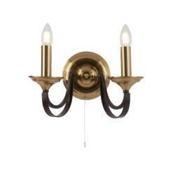Searchlight 1842-2BZ- Belfry 2lt Wall Light, Antique Brass