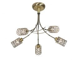 1931/5 AB VIKA ANTIQUE BRASS SEMI-FLUSH