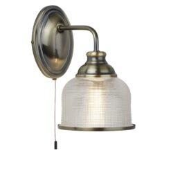 Searchlight 2671-1AB- Bistro II 1lt Wall Light, Chrome Polished