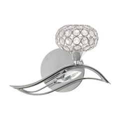 3050/1 L CH ESMEE CHROME WALL LIGHT LEFT