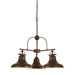 Searchlight 3183-3BZ- Dallas 3lt Multi Arm Pendant, Copper