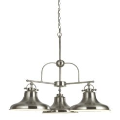 Searchlight 3183-3SS- Dallas 3lt Multi Arm Pendant, Copper