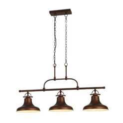 Searchlight 3193-3BZ- Dallas 3lt Multi Arm Pendant, Copper
