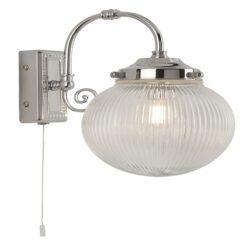 Searchlight 3259CC- Belvue 1lt Wall Light, Antique Brass