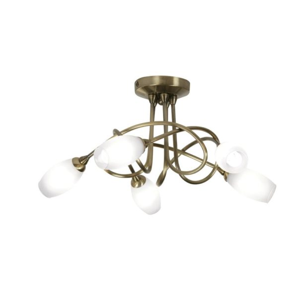 5327/5 AB - TARA ANTIQUE BRASS 5 LIGHT