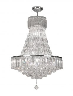6104/12 CH CHROME 12 LIGHT FLUSH LIENZ