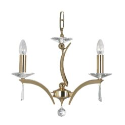 708/3 GO WROXTON 3 LIGHT PENDANT GOLD