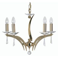 708/5 GO WROXTON 5 LIGHT PENDANT GOLD