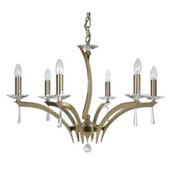 708/6 GO WROXTON 6 LIGHT PENDANT GOLD