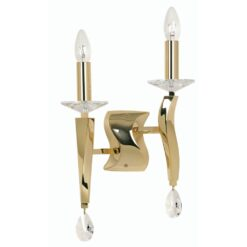 719/2 GO AIRE 2 LIGHT WALL BRACKET GOLD