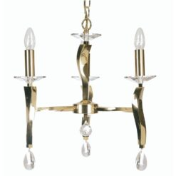 719/3 GO AIRE 3 LIGHT PENDANT GOLD