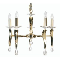719/5 GO AIRE 5 LIGHT PENDANT GOLD