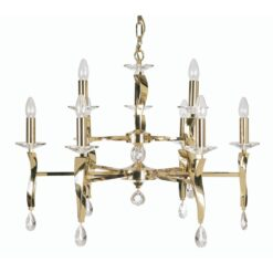 719/6+3 GO AIRE 9 LIGHT PENDANT GOLD