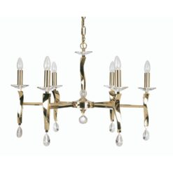 719/6 GO AIRE 6 LIGHT PENDANT GOLD