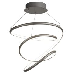 Searchlight 7341SS- Magic 1lt Single Pendant, Chrome Brushed