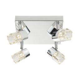 Searchlight 7884CC-LED- Blocs 4lt Spotlight, Chrome Polished